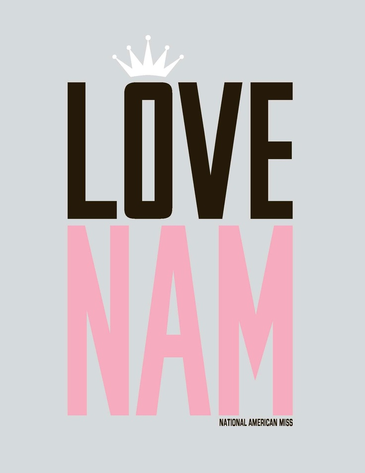 Love NAM! So excited for Caroline's first year this year!