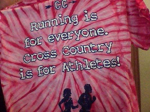 i wanted to run cross country.