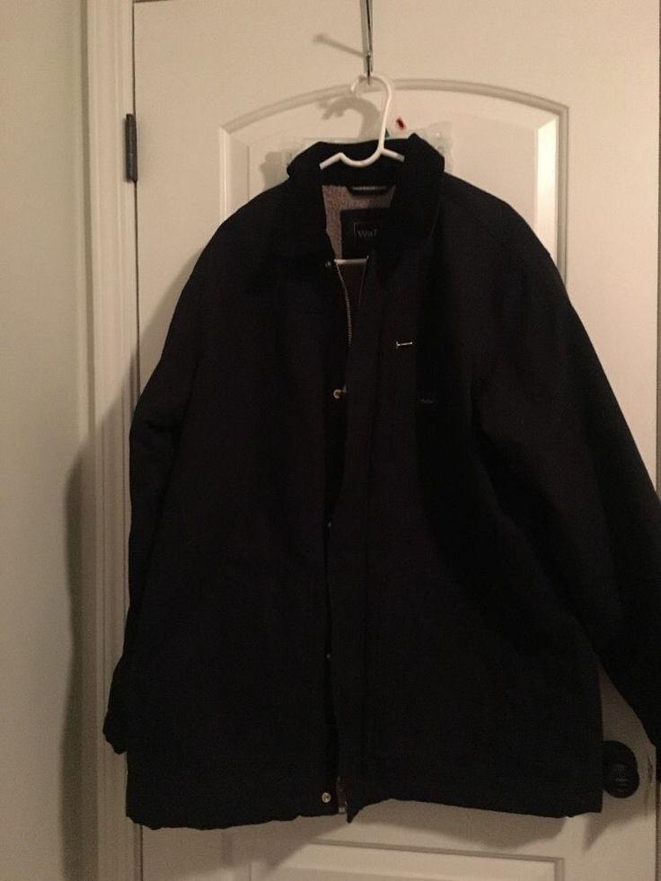 WALLS Workwear Mens Lined Heavy Jacket Coat Sz XL Black Clothes NWT #walls #workwearheavyjacketcoat