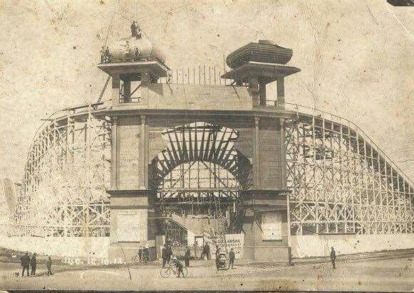 St Kilda's Luna Park under construction in 1911.