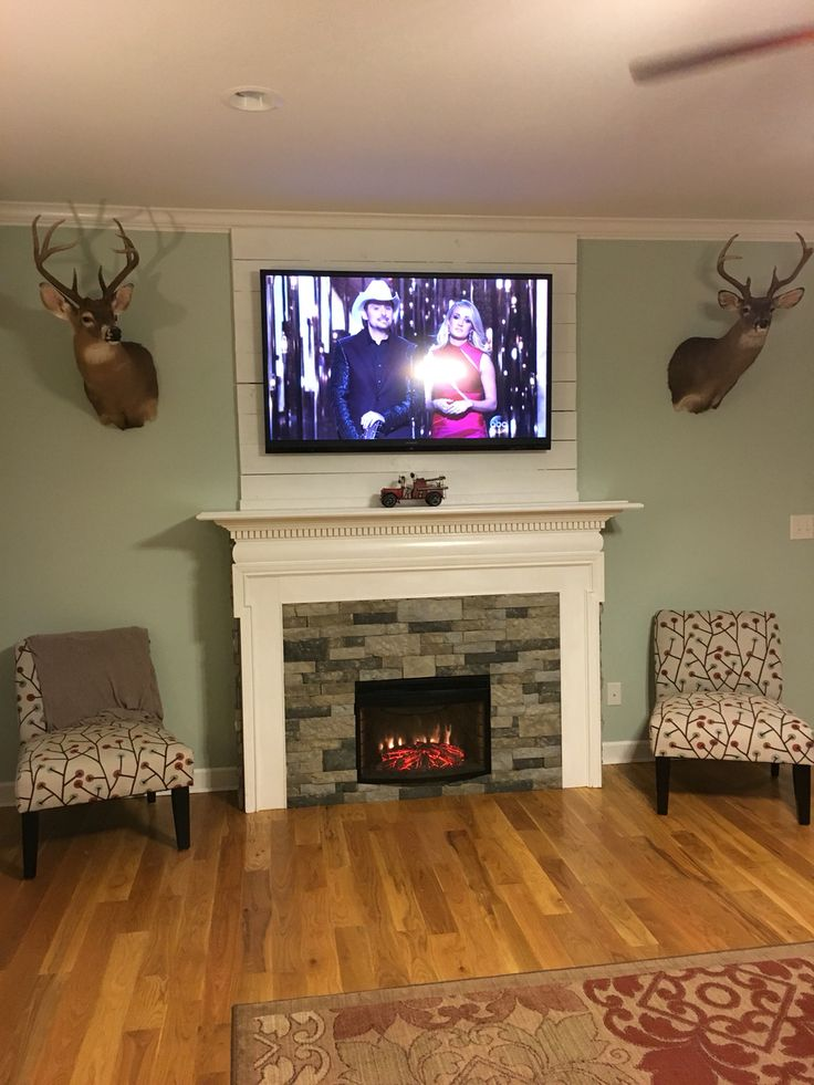 DIY fireplace surround for electric insert. Used old ...
