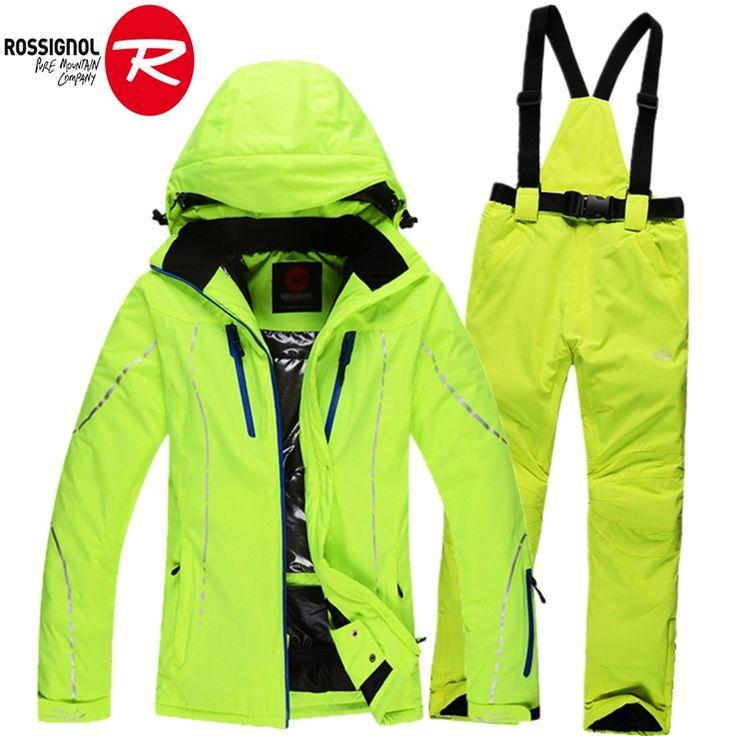 79.86$  Watch now - http://alihux.shopchina.info/go.php?t=32761249130 - 2016 winter women's ski suits snow ski jacket + waterproof skiing trousers set female outdoor sportwear woman snow coat  #bestbuy