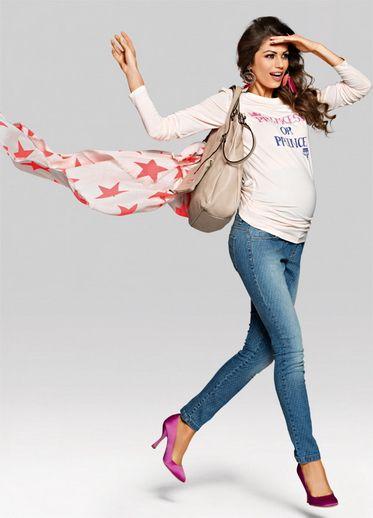 Dottie зауженные джинсы с узором для беременных