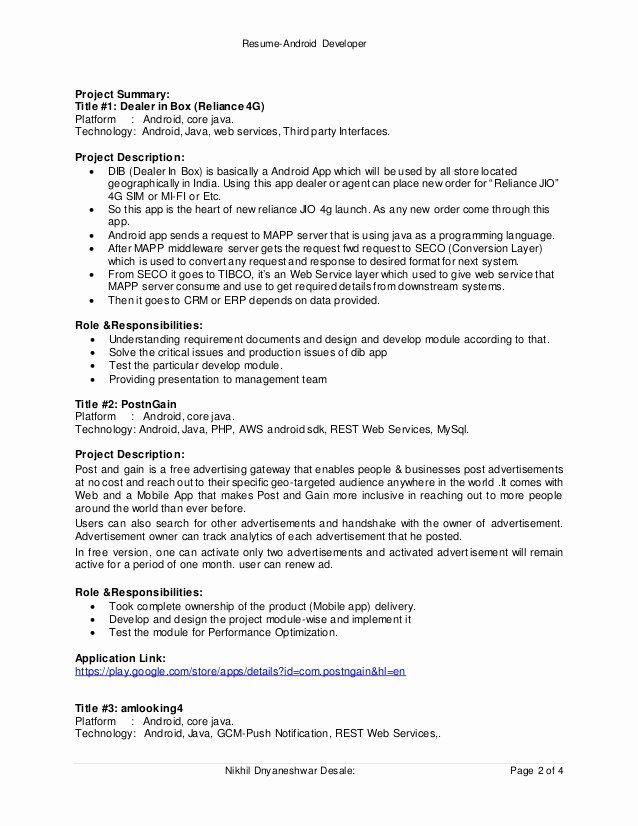 Core Java Developer Resume Luxury Resume Android Developer Resume Resume Template Professional Best Resume Template