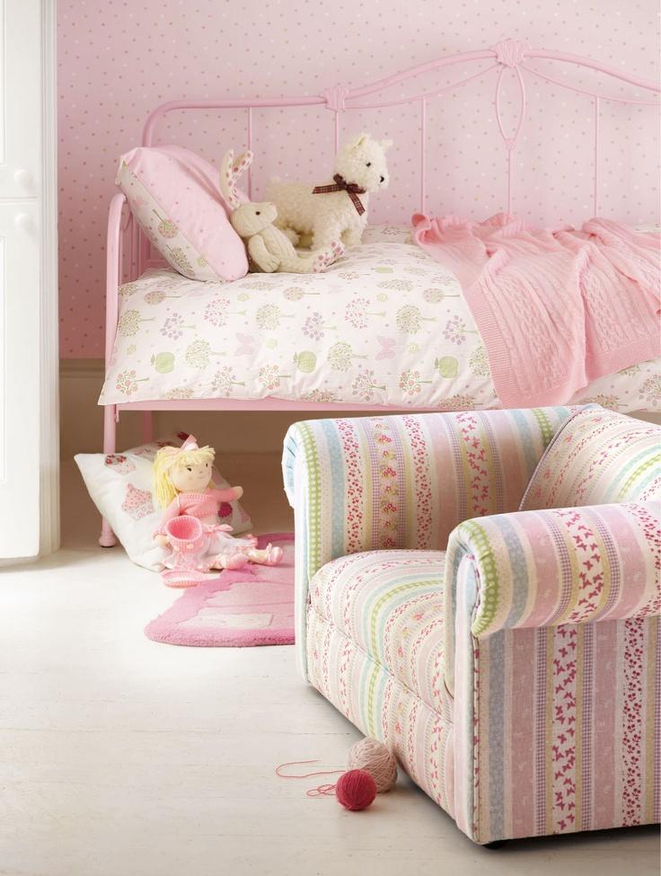 Lovely S Room Laura Ashley Esme Clementine Fabrics Mollie Spot Wallpaper