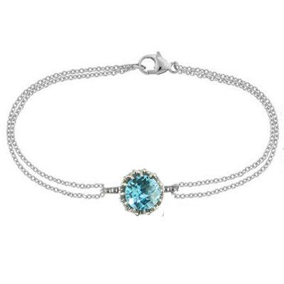 London Road Jewellery Bloomsbury White Gold Chequer-Cut Amethyst Coronation Bracelet DV0yQA