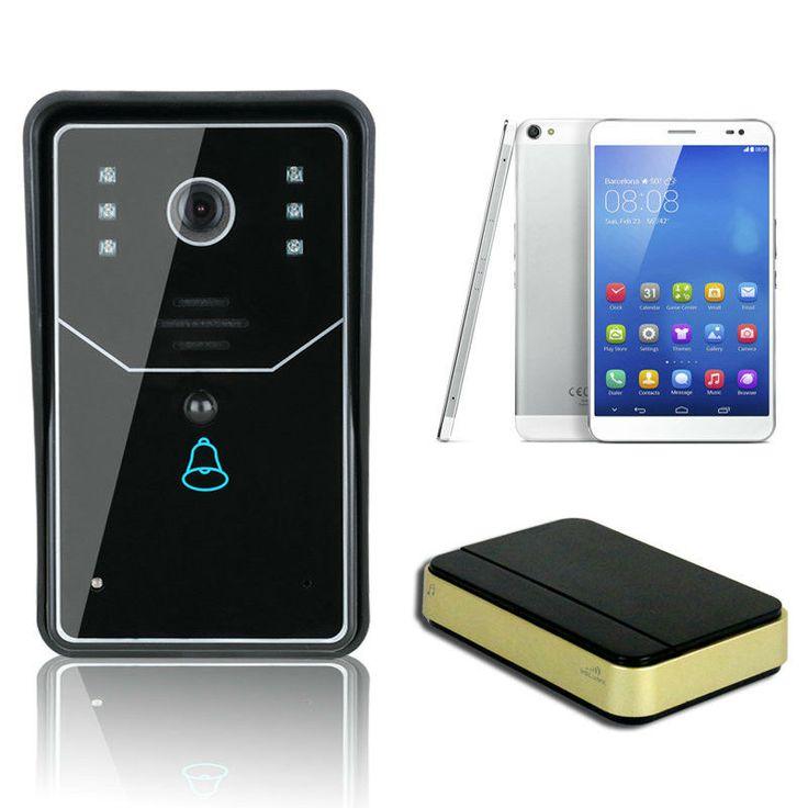 Беспроводной Wi-Fi Smart Видео-Дверной Звонок 720 P P2P Беспроводной WI-FI Видео-Телефон Двери Видео Домофон Поддержка TF Карт И Музыки дверной звонок