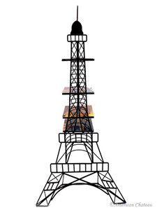 "Large 33"" Metal Eiffel Tower Statue Paris Home Decor CD/DVD Tower Storage Holder"