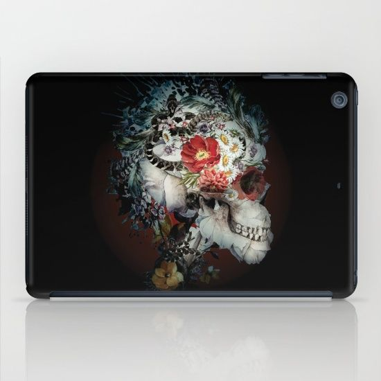 Protect your iPad with an impact resistant hard shell case featuring an extremely slim profile. #skull #ipad #dark #art