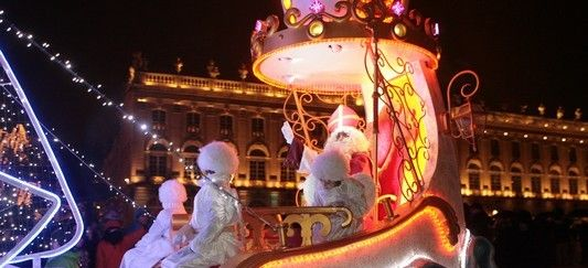 The Saint Nicholas day festivities in Nancy run from 7 to 8 December this year and includes floats, parades and fireworks. http://en.nancy-tourisme.fr/entertainment/major-events/saint-nicholas-day/