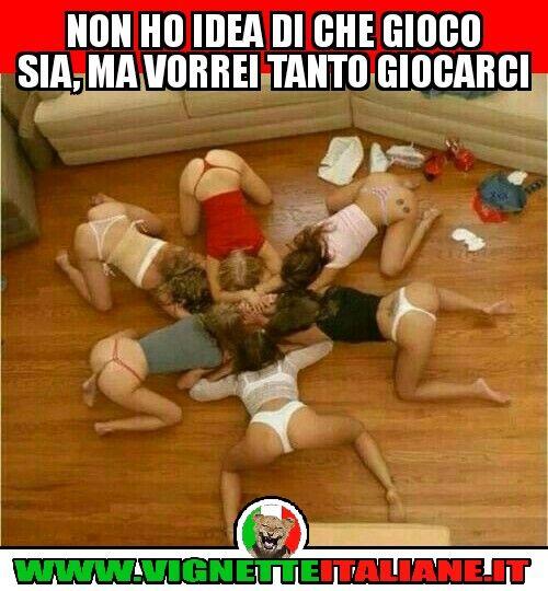 Non ho idea di che gioco sia, ma vorrei tanto giocarci :D (www.VignetteItaliane.it)