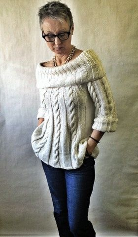 Loving all the details in this sweater! | DROPS Design: Jackie (photo from Yellow Dog Knitting)