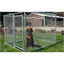 Patio-sized Portable Chain Link Dog Kennel
