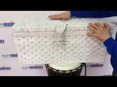 Как сделать корзины для белья. How to make laundry baskets. - YouTube