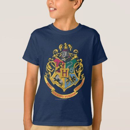 Hogwarts Four Houses Crest T-Shirt - tap, personalize, buy right now!