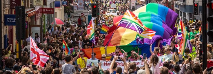 The Brighton Pride parade