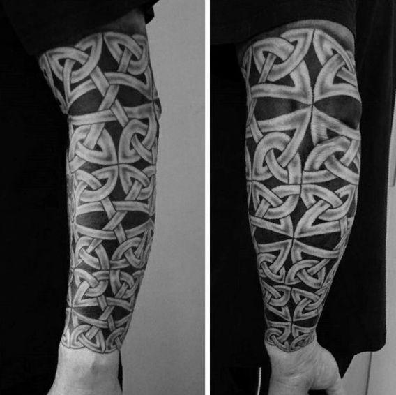 Intricate Knots Male Celtic Sleeve Tattoo Ideas