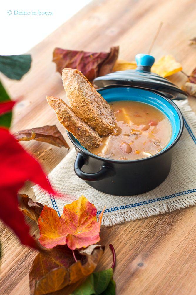 Zuppa silana: zuppa di fagioli borlotti e funghi porcini con trofie fresche!