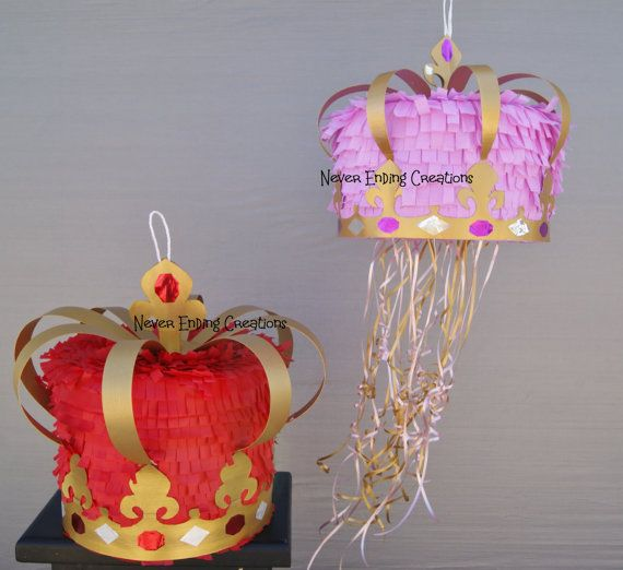 Crown Pinata by NeverEndingCreation on Etsy, $55.00