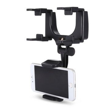 KELIMA 360° Rotation Rearview Mirror Mount Phone Holder for Phone 3.5-5.5 inches Sale - Banggood.com