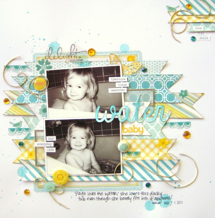 #papercraft #scrapbook #layout Water Baby - Scrapbook.com
