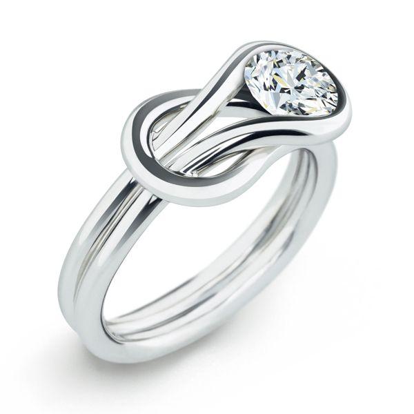 フォーエバーマーク エンコルディア® コレクション ソリティア リング - FOREVERMARK(フォーエバーマーク)の婚約指輪(エンゲージメントリング)爪なしのエンゲージリング・婚約指輪を集めました!