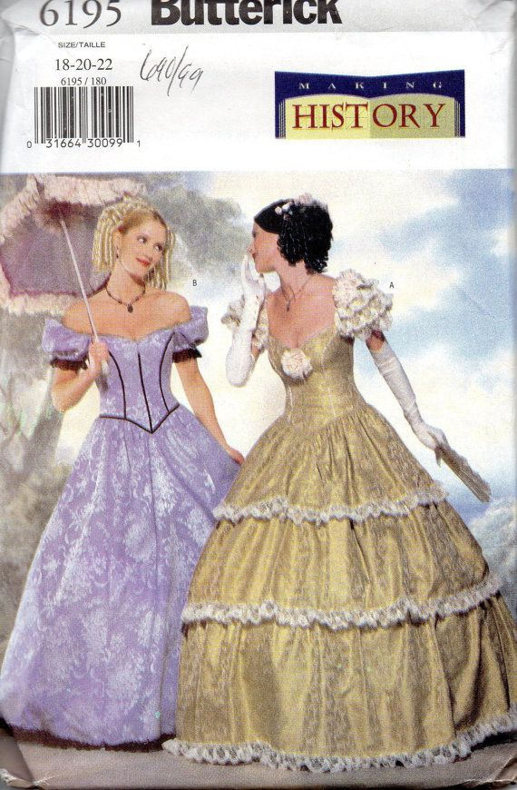 Butterick 6195 Misses Southern Belle Costume Pattern