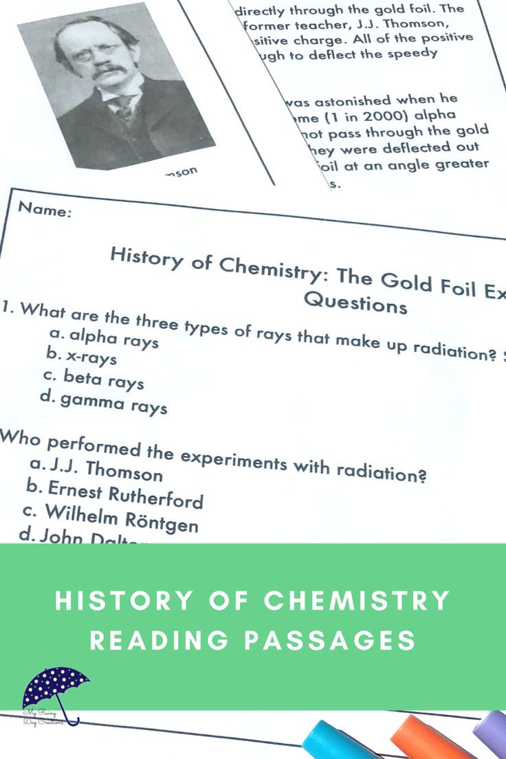 Are you teaching middle school or upper elementary chemistry? Do some of your students need a little extra help? Understanding the history of chemistry can help students understand the concepts you are teaching. Using reading passages is an opportunity for cross-curricular instruction with science, social studies, and reading. Learn all about Ernest Rutherford and his Gold Foil Experiment that revealed the nuclear model of the atom. Click to see more!