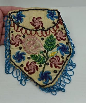 antique-Native-American-Indian-beadwork-purse-c-1910-Iroquois-as-found