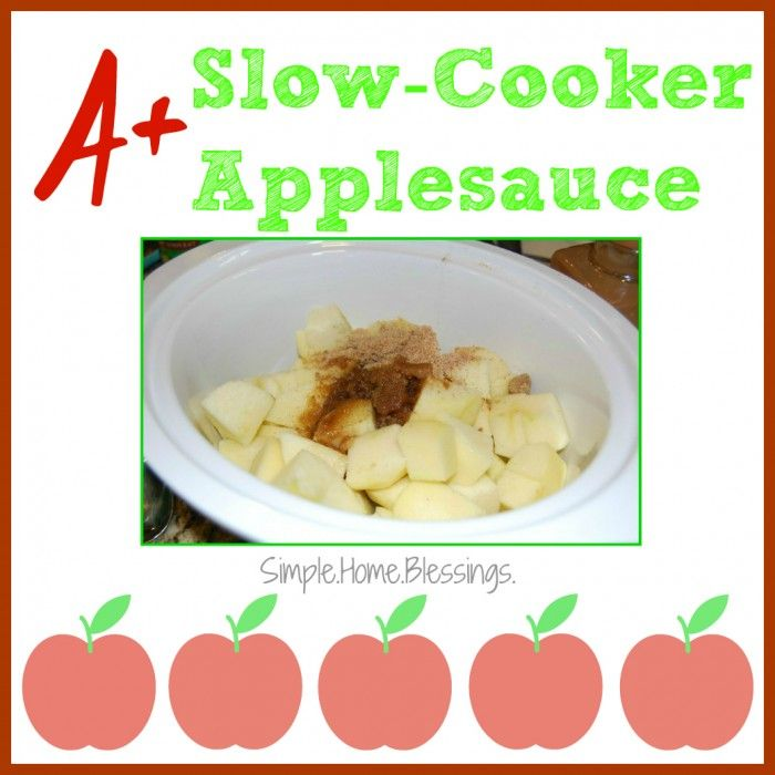 A+ Slow-Cooker Applesauce - super simple recipe similar to Cracker Barrel's Fried Apples