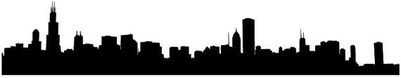 Chicago City Skyline Wall Glass Vinyl Sticker by JandiCoGraphix, $16.00