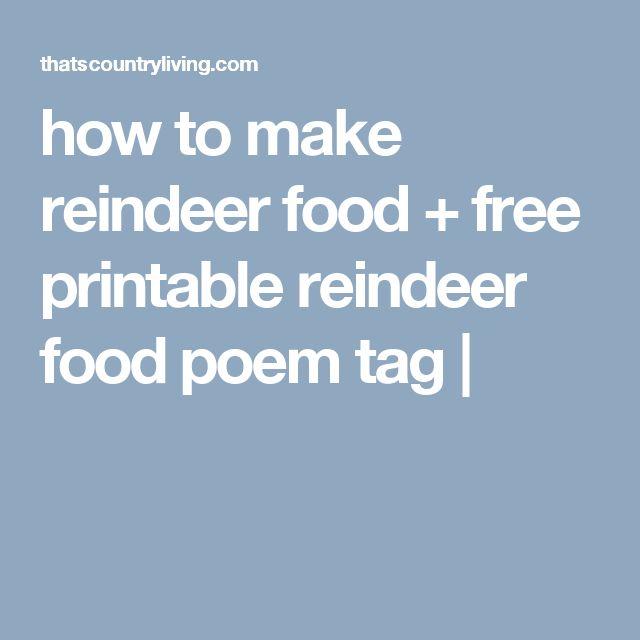 how to make reindeer food + free printable reindeer food poem tag |