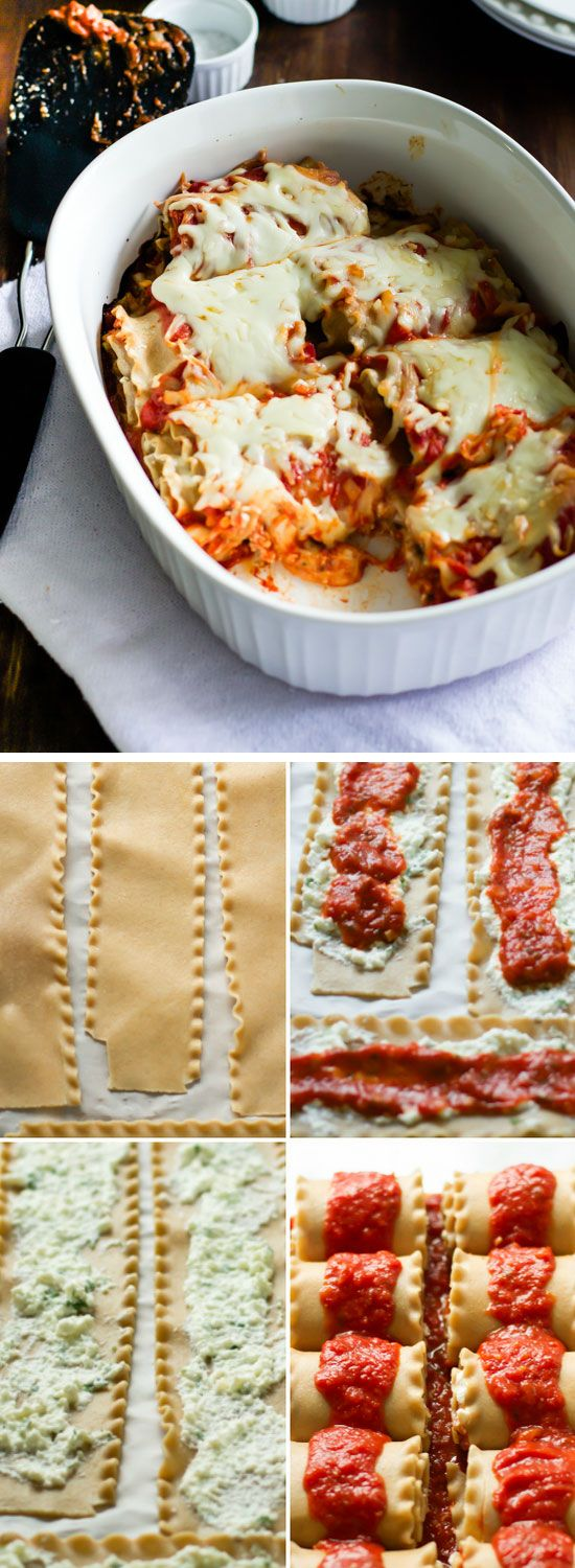 Skinny Lasagna Rolls | Click Pic for 22 Quick & Easy Dinner Recipes for Family | Easy Healthy Dinners on a Budget