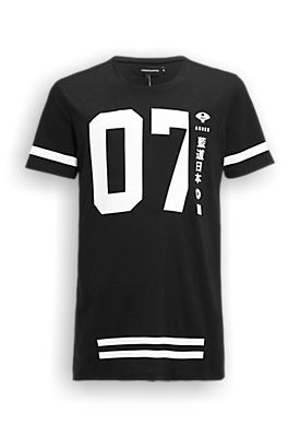 long-fit T-shirt black