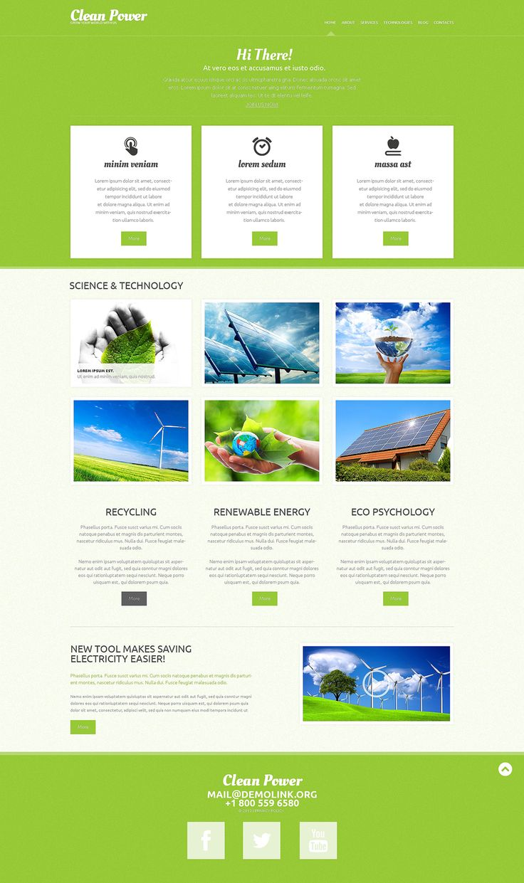 Best 12 Environmental & Clean Energy WordPress Themes (Solar, Wind and Recycling) - Clean Power (website theme) Item Picture