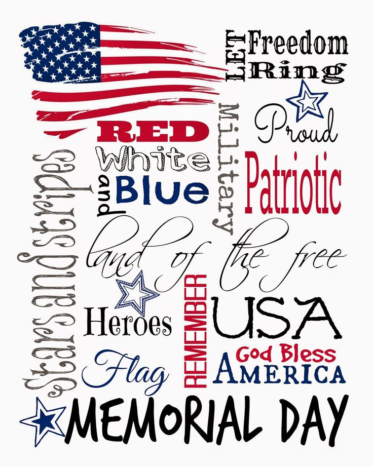 memorial day text art