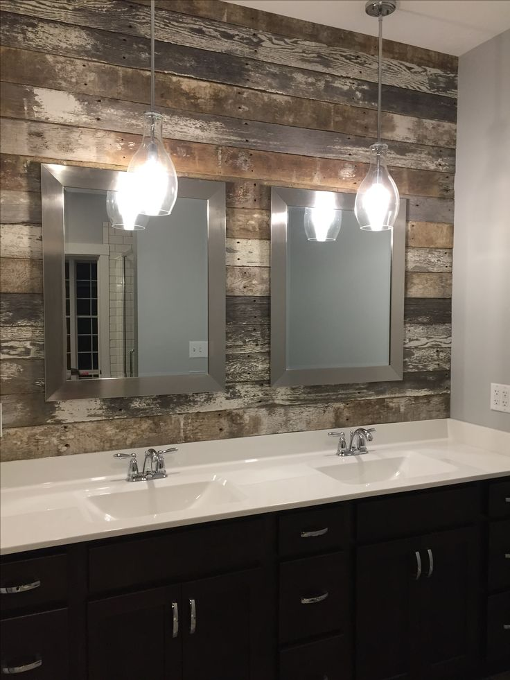 bathroom lighting pendants master bath vanity sink barn wood accent wall and 10923 | 3e192dd4ed02dbdf7aef20a6ae5c1168 wood accent walls wood accents