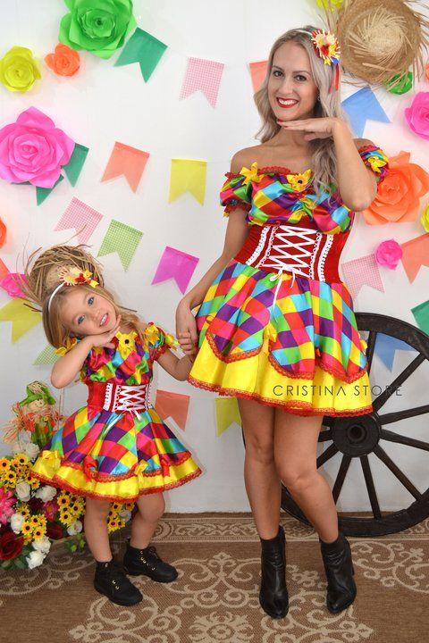 Vestido Funny - Tal mãe, Tal filha! Caipira Chic - comprar online