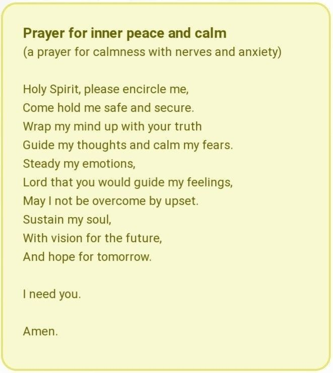 30+ Prayer for inner peace and calm trends