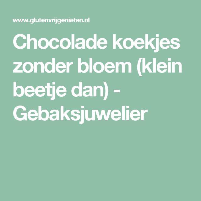 Chocolade koekjes zonder bloem (klein beetje dan) - Gebaksjuwelier
