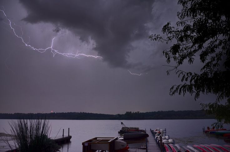 WunderPhotos®   Uploaded by: rahurdinmadison — Thursday September 19, 2013 — Madison, WI (Current Weather Conditions) Pre-dawn lightning flash over Lake Wingra in Madison, Wisconsin on 9-19-2013