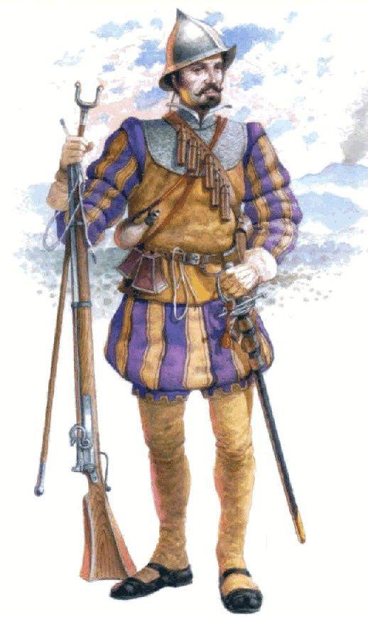 1513 Tercio de Nápoles. Arcabucero
