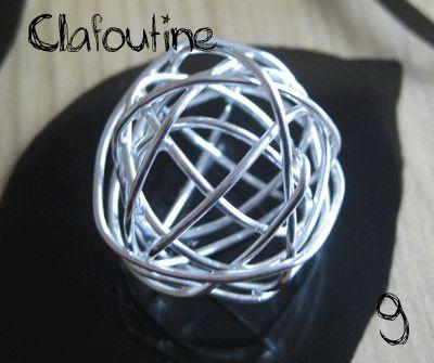 tutoriel boule creuse en fil métal par Clafoutine