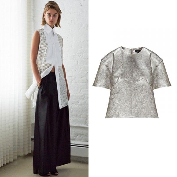 Australian Fashion Designers You Should Know | The Zoe Report Silver Lame Top, $940