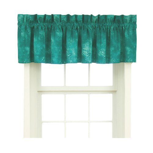Caribbean Coolers Window Valance Turquoise 88x18 Kitchen Home Kitchen
