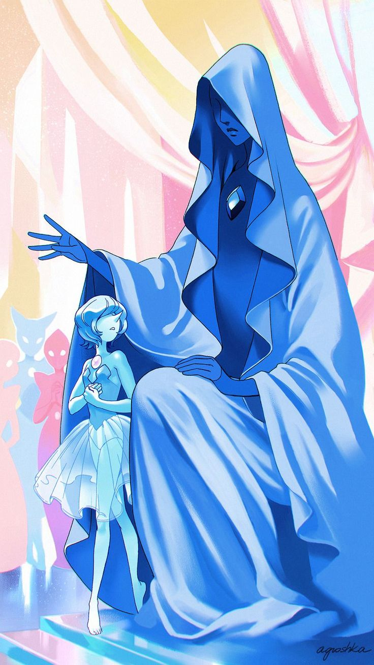 Blue Diamond and Her Court by Agroshka (Steven Universe, The Answer, fanart)