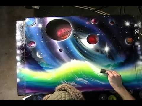 painting space painting galaxy art buy paintings spray paint art spray. Black Bedroom Furniture Sets. Home Design Ideas