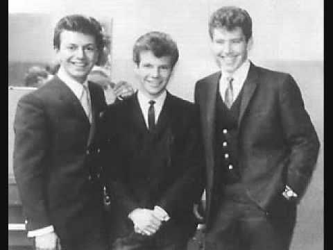 """Bobby Vee - Go Away Little Girl (1962) -  song written by Gerry Goffin and Carole King. Released on the 1963 album, """"The Night Has A Thousand Eyes"""". This is the original version of the song (which was not released as a single when recorded), which became a hit for Steve Lawrence and later, Donny Osmond. Bobby is pictured with Dion and Buddy Knox."""