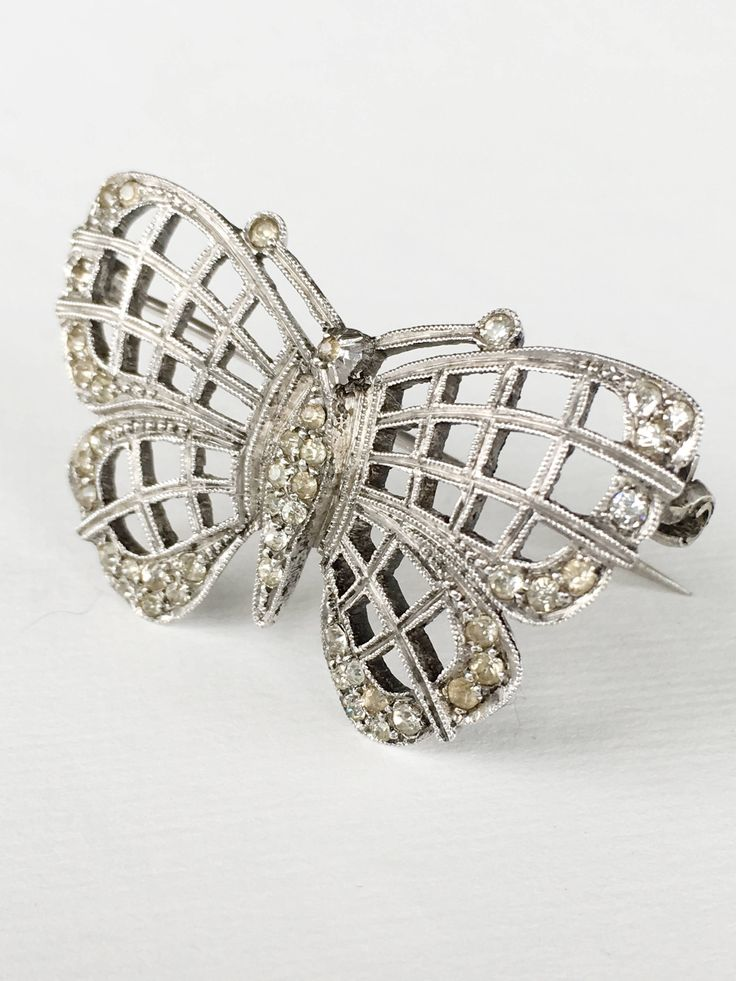 Vintage  1960s Silver Signed England Butterfly Brooch Runway Chic Wedding by MariniJewellery on Etsy https://www.etsy.com/ie/listing/548641852/vintage-1960s-silver-signed-england
