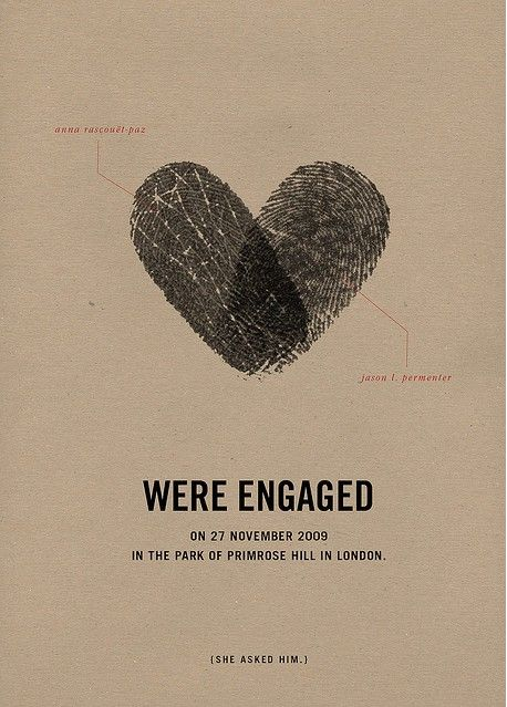 engagement party invite, wedding, fingerprints